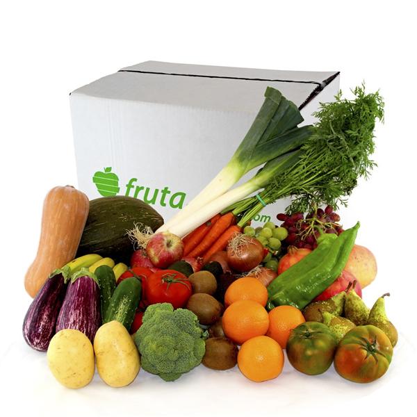 Caja de frutas y verduras ecológicas